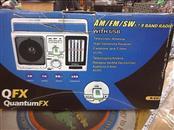 QFX R-6U PORTABLE 7 BAND RADIO AM/FM SW1-SW7 AC/DC DUAL POWER W/USB